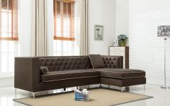 Brown Tufted Air leather 4 Pc Sofa Set Promotion- Husky GL6585
