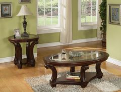 Rudolph Designer Coffee Table Set with Glass Insert Top - GL7952