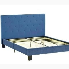 QUEEN PLATFORM BED - BLUE - 3660Q-BL