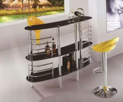 Bar Cart with tempered glass shelves and stainless steel frame | Genesis