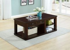 Chile Espresso coloured Coffee Table with Storage Function GL7456