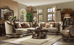 Beige Fabric 3PC, SOFA SET WITH DETACHBLE BACK & THROW PILLOWS - GL6105