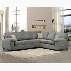Solid Wood Canadian Made Sectional Sofa in Grey