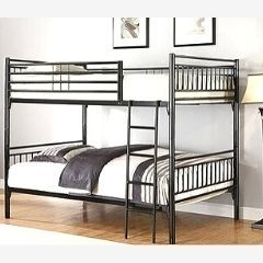 Twin/Twin Bunk Bed In Black Metal IF05 - 510