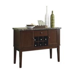 SERVER WOODEN TABLE IN BROWN 2456-40