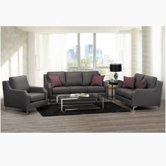 3 Pieces Canadian Made Couch Set with Nailheads (Seville)