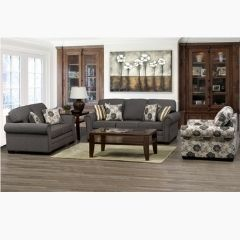Rolled Arms Stafford Sofa Set with Accent Chair - Canadian Made