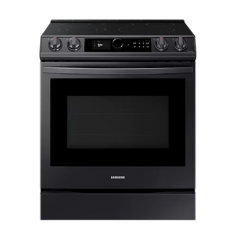 6.3 cu.ft. Black Electric Range with with True Convection NE63T8711SG