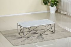 Marble Top with Stainless Steel Coffee Table - Santiago GL7843