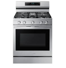Gray 6.0 cu.ft. Gas True Convection Range with Air Fry - NX60A6711SS