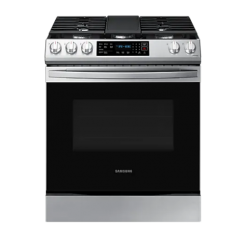 Silver Samsung Gas Range with Fan Convection   NX60T8311SS