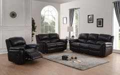 Leather Match 3Pc, Sofa Set with High Density Foam, Manual Recliner GL6595-117
