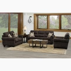Fabric Couch Set - Made in Canada (Lacey)