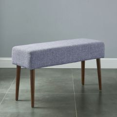Textured Multi-Toned Fabric Minto Bench