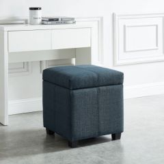 Juno Square Storage Ottoman with Fabric Upholstery