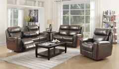 High Quality 3 Pc Sofa Set with 5 Power Recliner and Adjustable Headrest GL6282