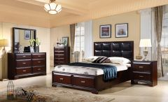 Apollo - GL2925 King and Queen Bedroom Sets in Espresso Finish