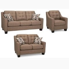 Fabric Canadian Made Sofa Set with Tufted Back (London)