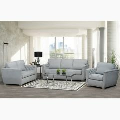 Beautiful Canadian Made 3 PC Fabric Couch Set (Erindale)