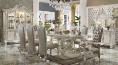 High-End Designed 9pc Dinning Set in White Finish - Curtis GL3505