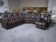 Exclusive Sectional Set with 4 Powe and One Chaise - Woodbridge GL6645