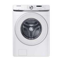 5.2 cu.ft. White Front Load Washer with Shallow Depth WF45T6000AW