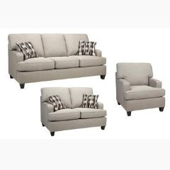 Made in Canada Couch Set with Attached Pillow Backs (Krysta)