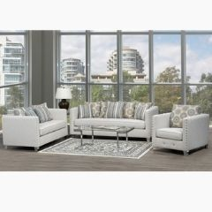 Made in Canada Sofa Set with Prominent Nailhead Details (Payson)
