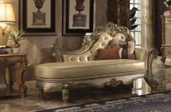 Perth Light GL8222 - Antqiue Designed Chaise with Tufted back in Gold Finish