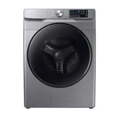 Samsung 5.2 cu. ft. Front Load Washer with Steam in Platinum | WF45R6100AP