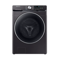 Black Stainless Steel Smart Front Load Washer with Super Speed WF45R6300AV