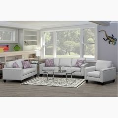 Roswell Canadian Made 3 Pieces Fabric Sofa Set