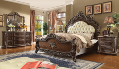 Bronte - GL2346 Tufted Traditional Bedroom Set in size King and Queen
