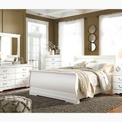 Contemporary style 6pc Bedroom set in white (B129)