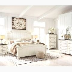 Contemporary style 6pc Queen Bedroom set in white - B763