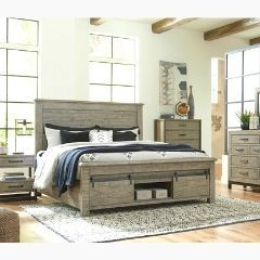 Contemporary style 6pc Queen Bedroom set with storage - B774