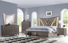 Contemporary Bedroom Set with Storage   Franklin