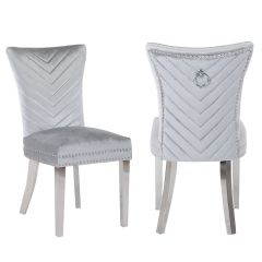Fabric dining chairs in five colors CH62 - EVA