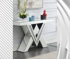 MIRRORED V CONSOLE TABLE