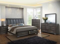 CUSHIONED BACK QUEEN BEDROOM SET