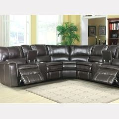 Trending Recliner Sectional with 2 Power and 2 Console - Canon GL6959