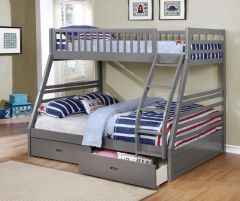 Grey Bunk Bed Converts Into 2 Beds