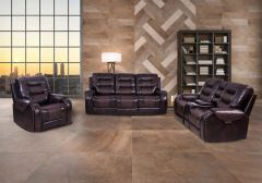 Recliner 3pc set in leather 3890
