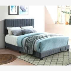 Stylish-Grey-Tufted-Queen-Bed - IF-5660
