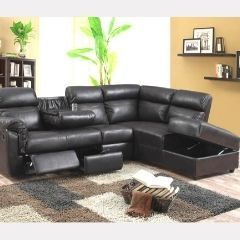 Sectional Set with 1 Recliner, Drop Down Tray & Non Reversible chaise with Storage GL6632