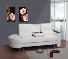 White Faux Leather Sofa Bed