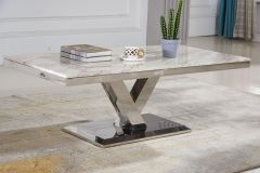 Coffee Table with Real Marble Top
