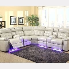 High - End Sectional Set with 3 Power Motion Recliners- GL6556